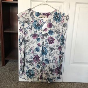 Loft Flower Pattern Button Shirt